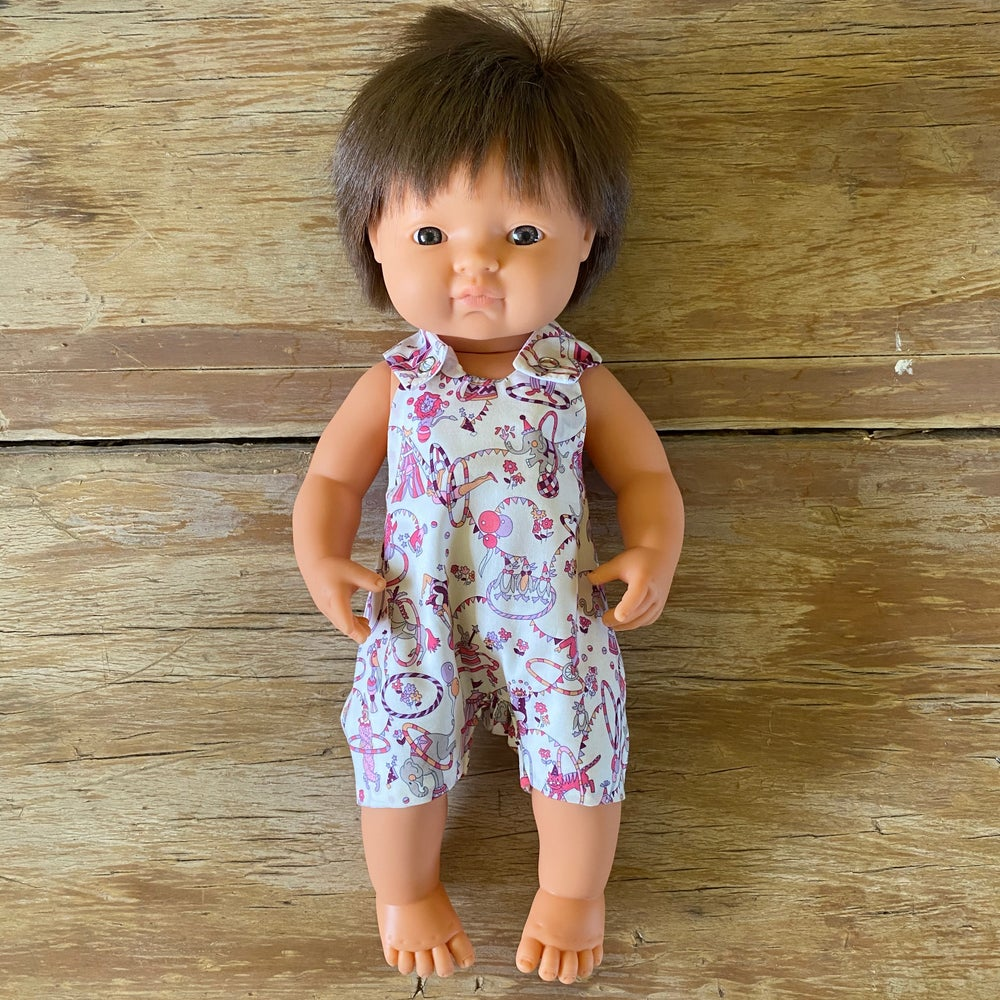 Image of Liberty Romper to suit 38cm Miniland doll - 'Circus'