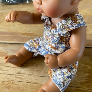 Image of Miniland Doll Clothes - Romper - 32cm 'Rumble and Roar'