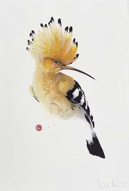 Image of KARL MARTENS - 'HOOPOE' - LITHOGRAPH - SIGNED & STAMPED