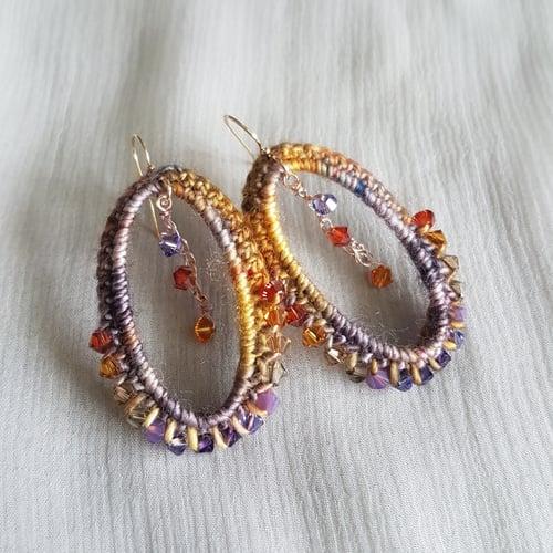 Image of VIGNETTE Earrings - Lavender Honey