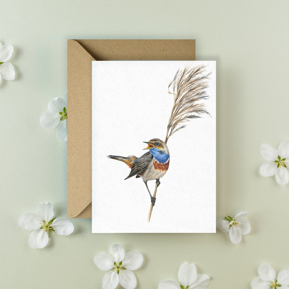 Image of 'Blue Throat' Greeting Card