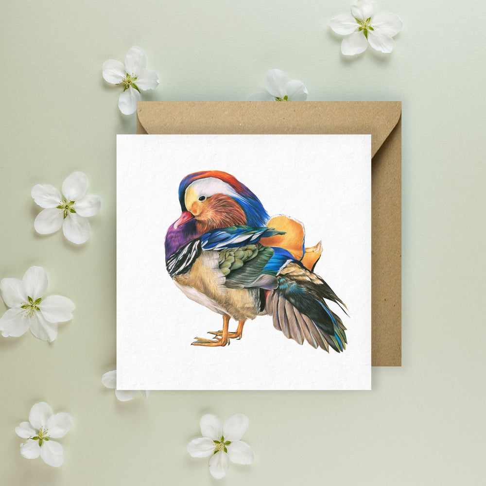 Image of 'Mandarin Duck' Greeting Card