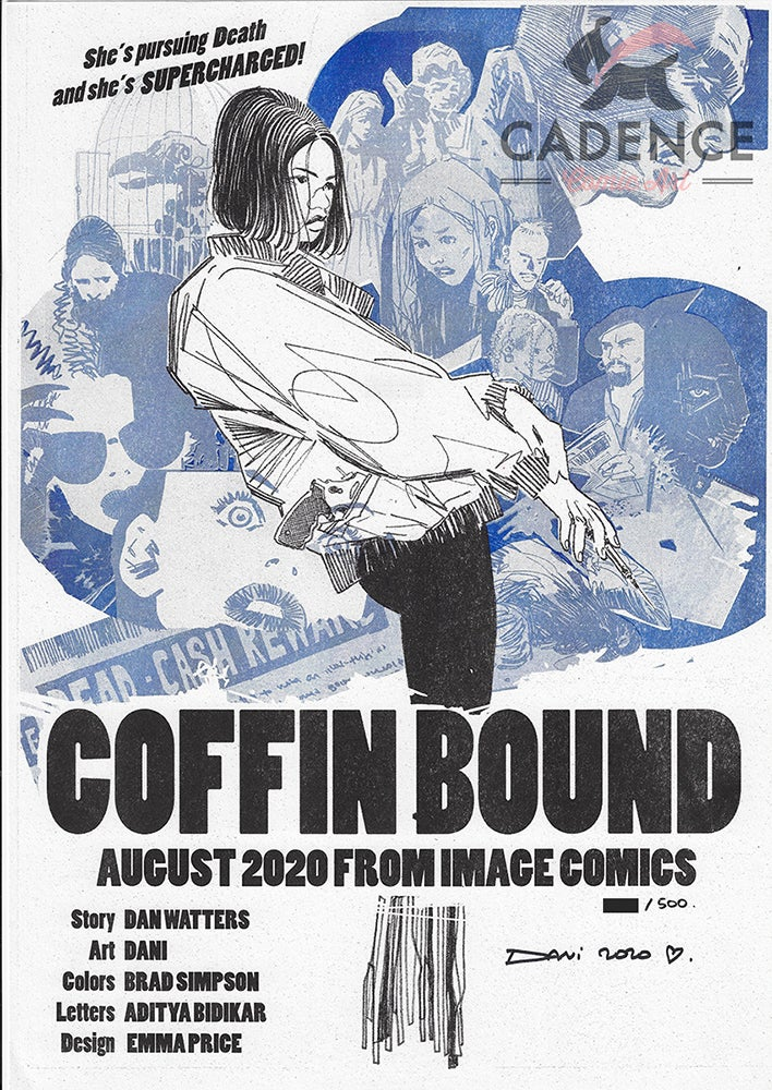 Image of Coffin Bound Riso Print Signed by Dani