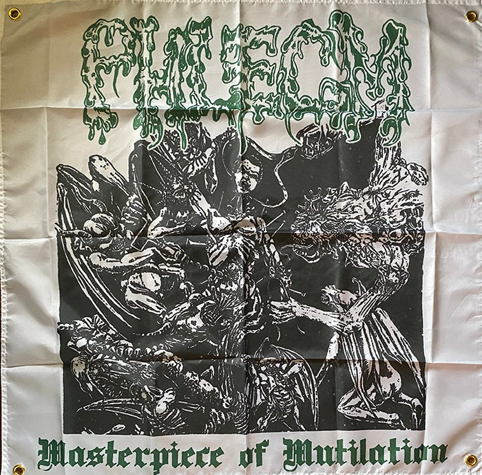 "Image of Phlegm "" Masterpiece Of Mutilation "" Flag /  Banner / Tapestry"