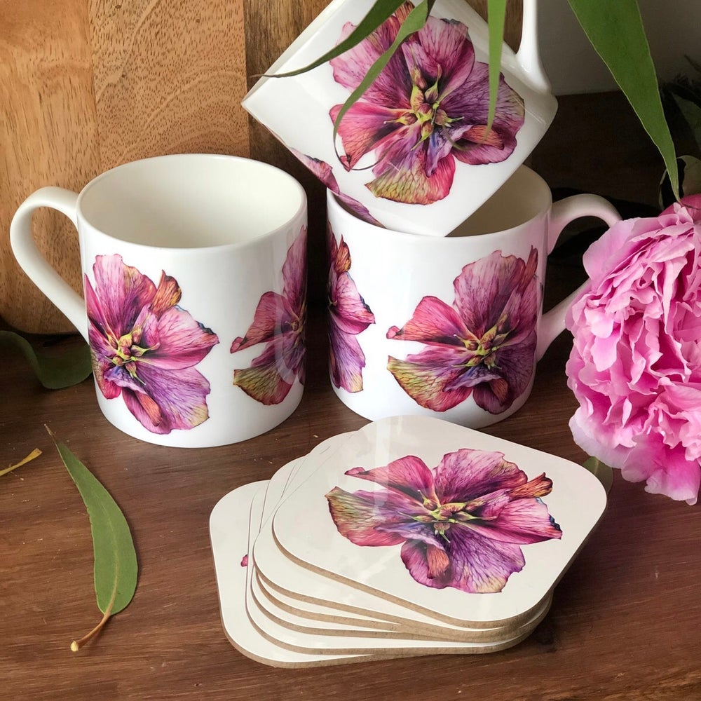 Image of 'Hellebore' Coaster