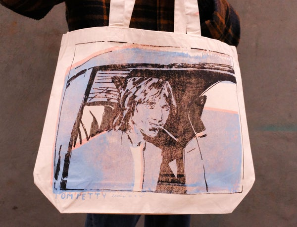 Image of 'Tom Petty Smoking In A Car' Tote Bag