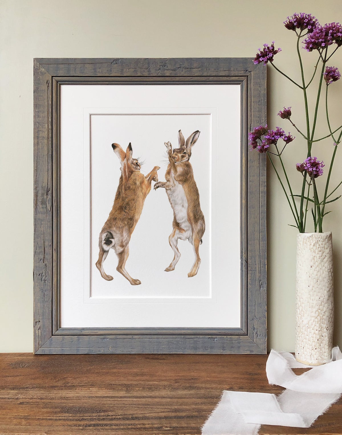 Image of 'Boxing Hares' Limited Edition Print