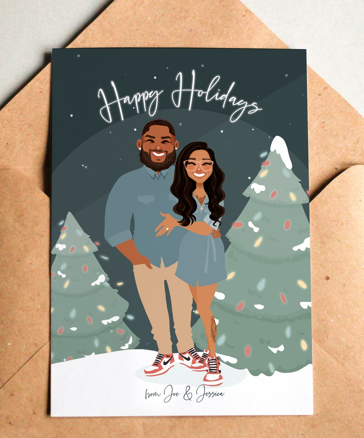 Image of NEW Christmas cards! Includes a cell phone version!