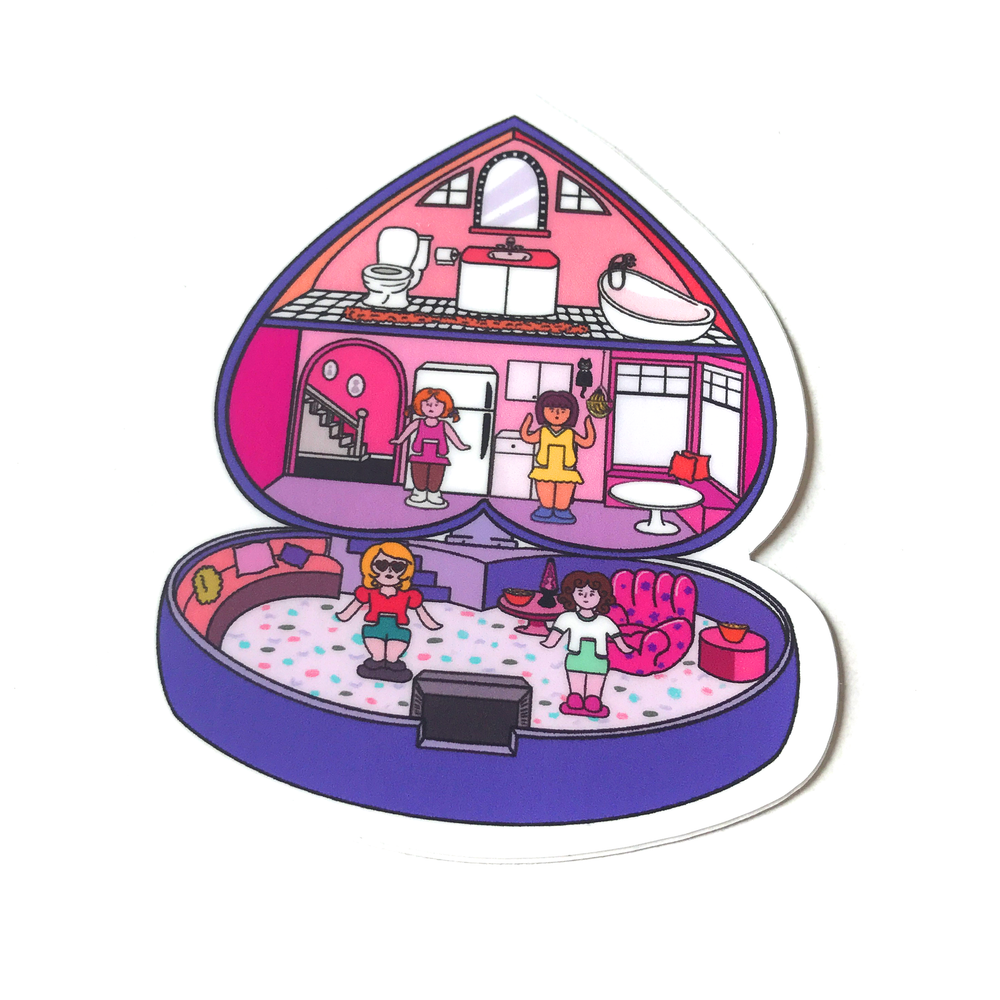 Image of Purple Polly Pockets party sticker