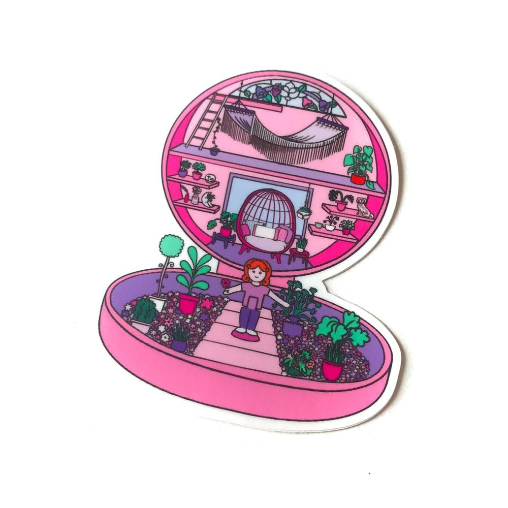 Image of Pink terrarium Polly Pocket sticker
