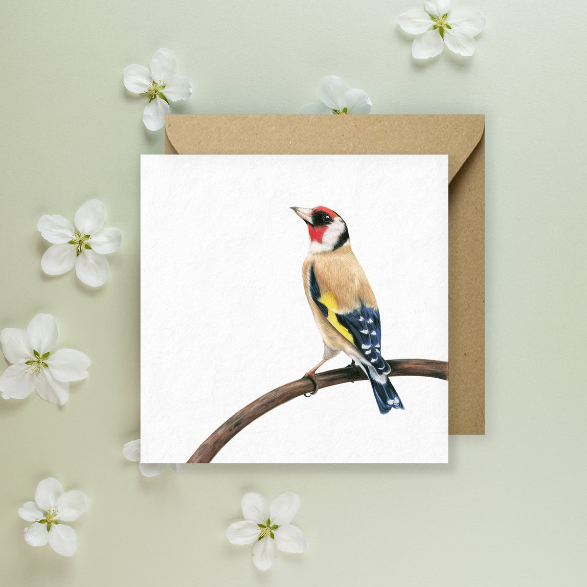 Image of 'Gold Finch' Greeting Card