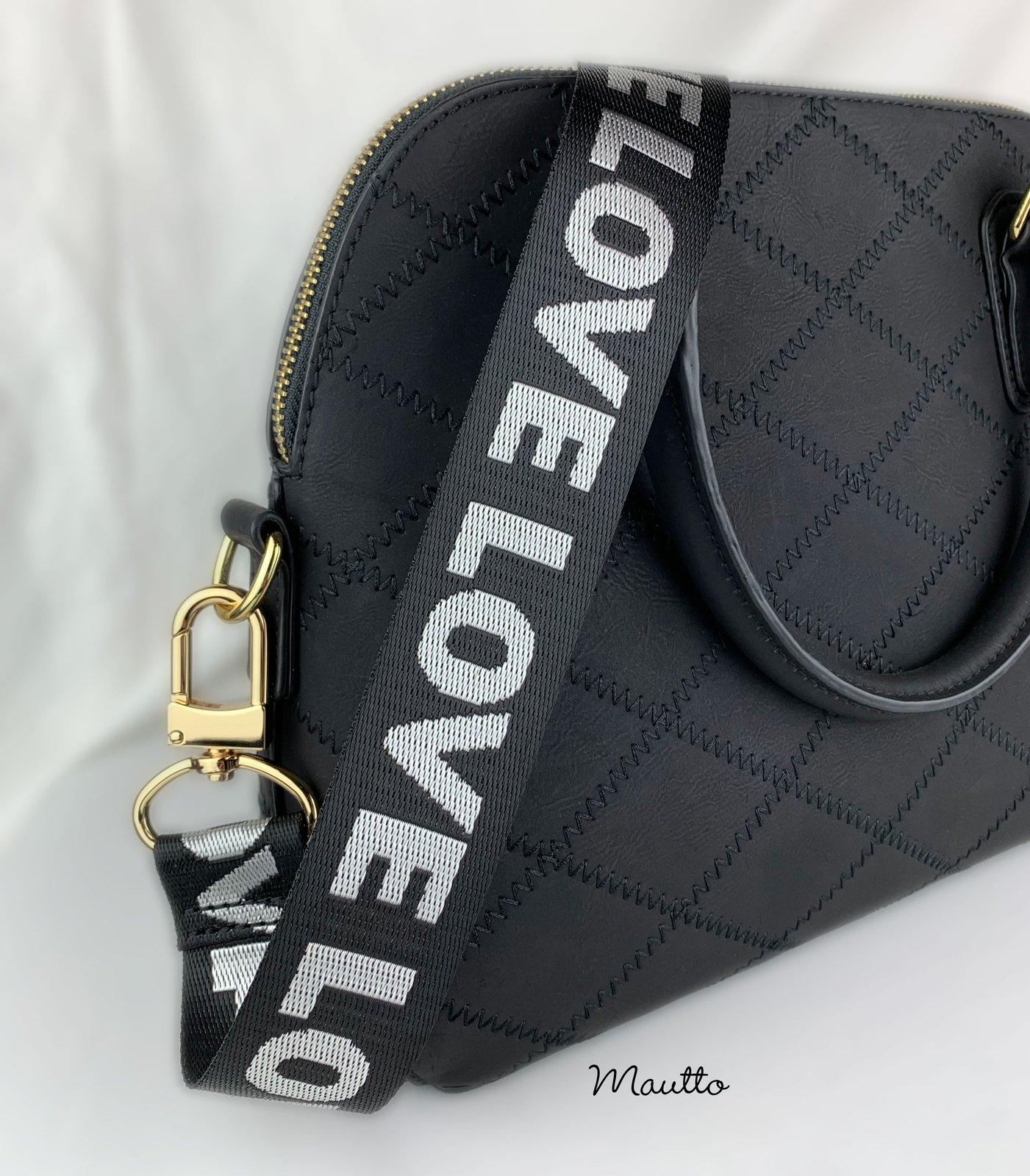Adjustable Purse Handle Shoulder Bags Handbags Strap Replacement for DIY Bag Black