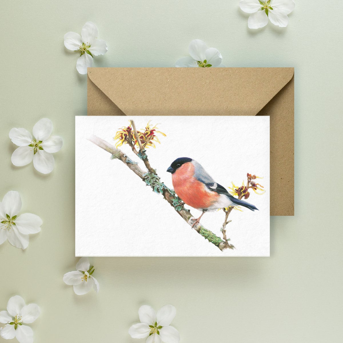 Image of 'Bullfinch' Greeting Card