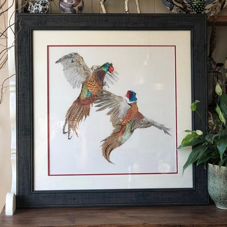 Image of 'Fighting Pheasants' original