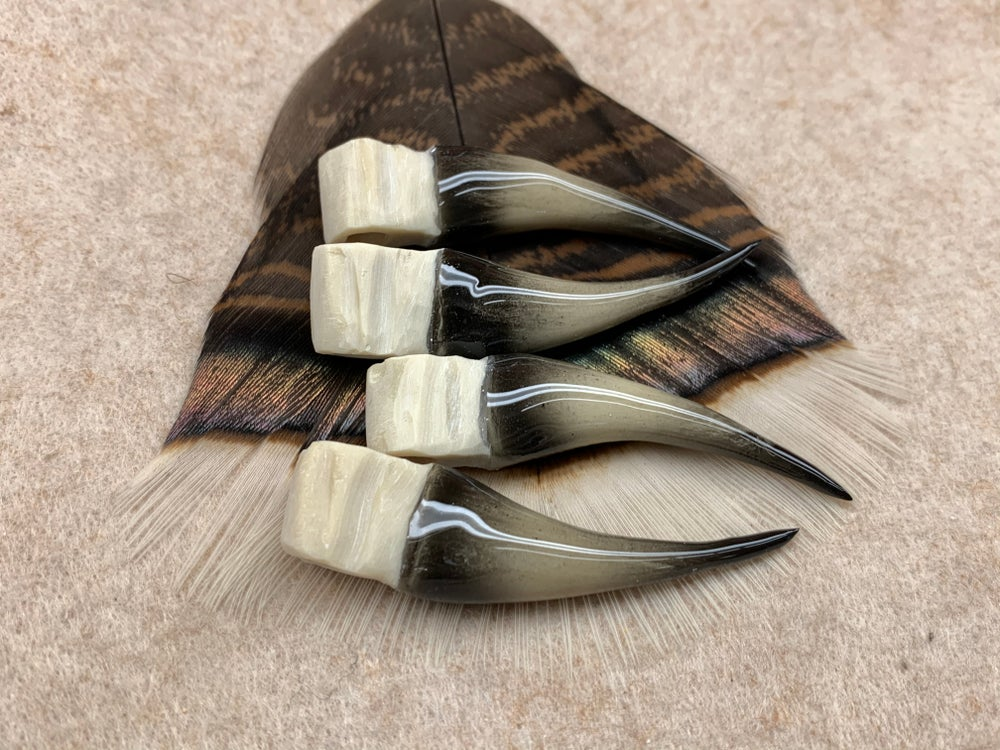 Image of Black and Ivory Replica Turkey Spur Sets