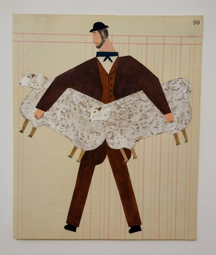 Image of Man with Two Sheep