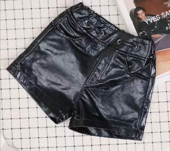 Image of Black Leather shorts