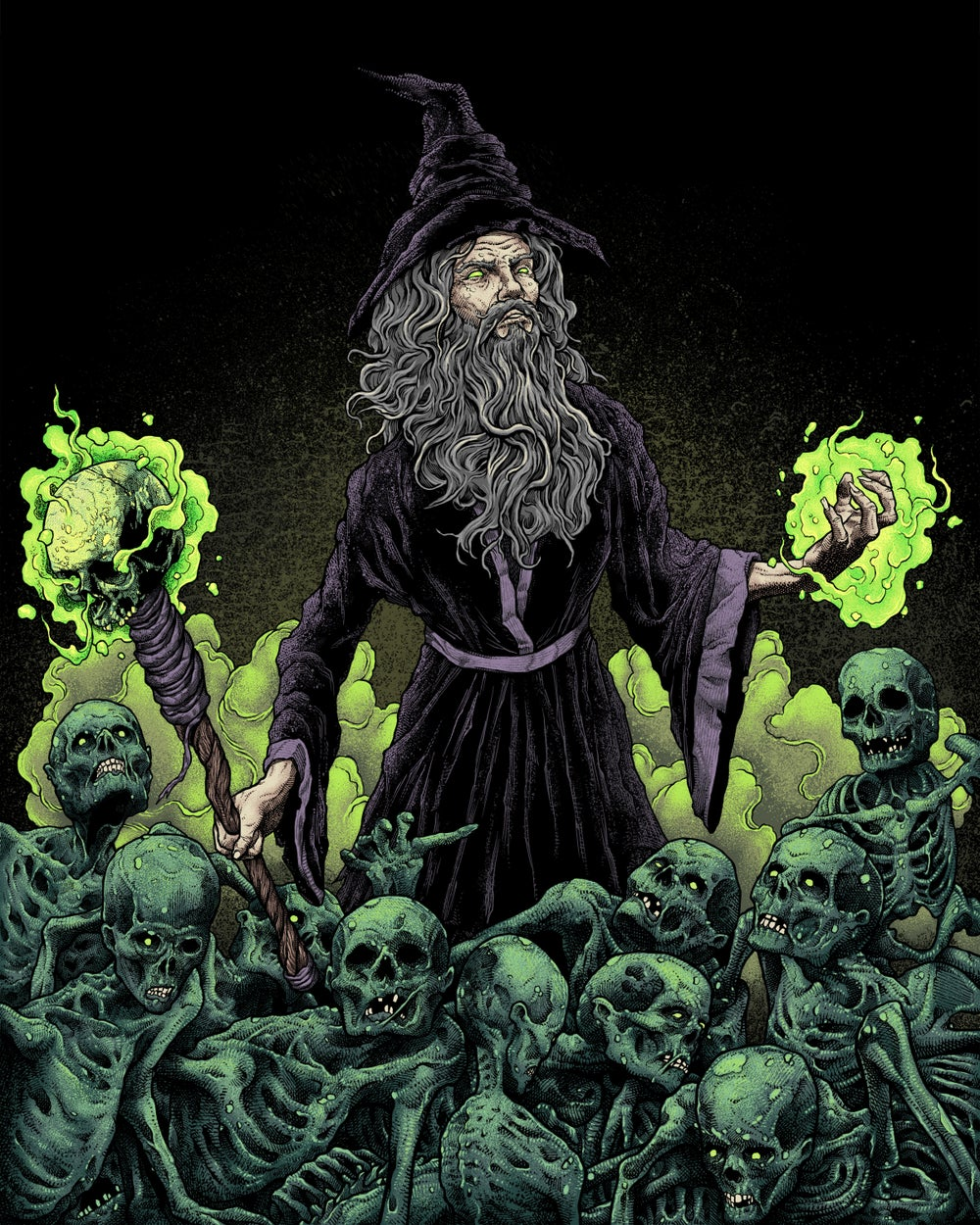 Image of NecroWizard Fine Art Gicle Print (Various Sizes)