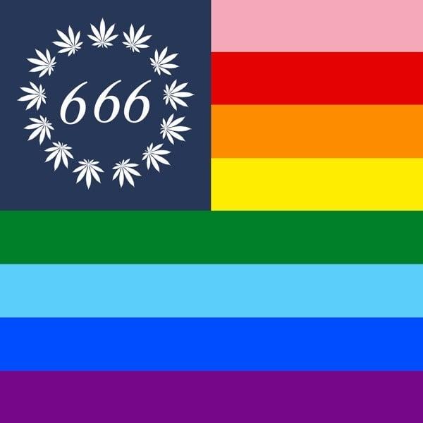 Image of **pre-order** PRIDE WEED 666 FLAG