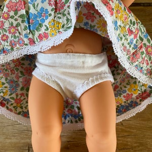 Image of Underpants to suit 38cm Miniland Doll - 'white'