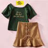 """""""Brown Skin Girl"""" Two Piece Luxe Skirtsy Set"""