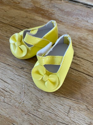 Image of Shoes to suit 38cm Miniland doll - 'yellow'