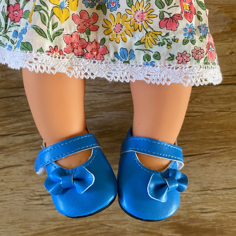 Image of Shoes to suit 38cm Miniland doll 'blue'