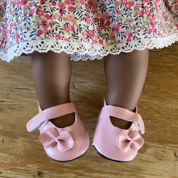 Image of Shoes to suit 38cm Miniland doll 'soft pink'