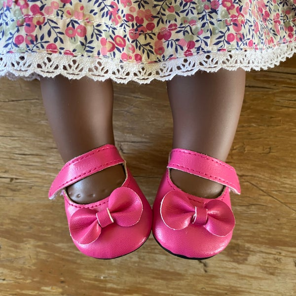 Image of Shoes to suit 38cm Miniland doll - 'bright pink'