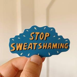 Stop sweatshaming sticker