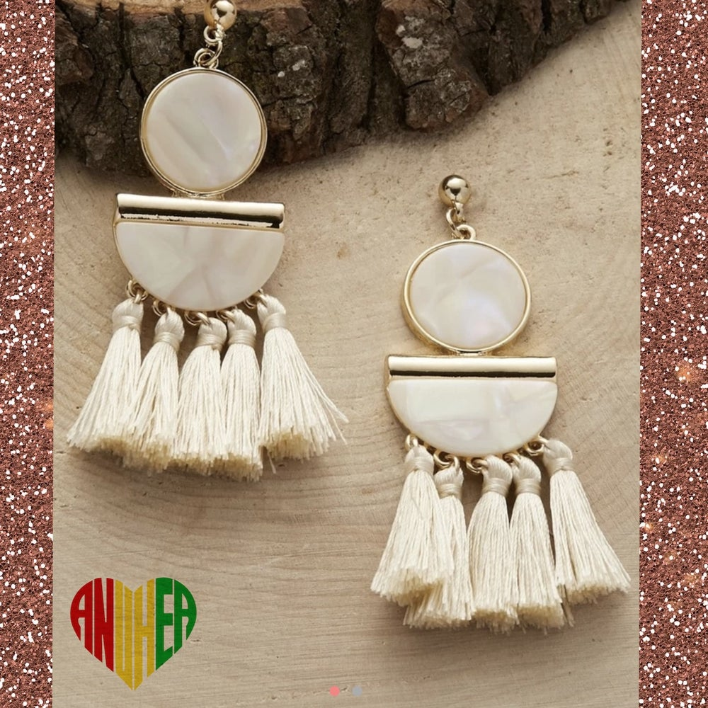 Image of NEW! Tassel Charm Drop Earring