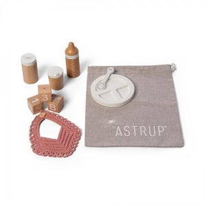 Image of Wooden Role Play Doll Feeding Set, 9 pcs