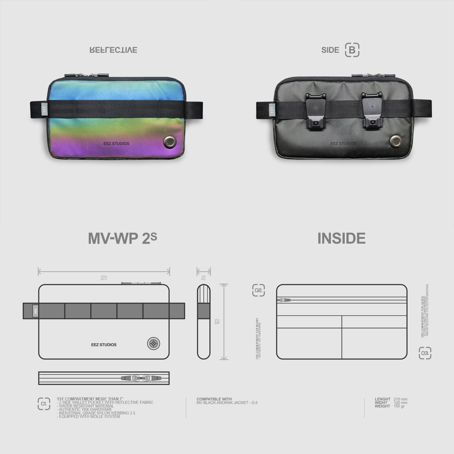 Image of M-V WALLET POCKET 2 S