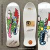 Santa Cruz Skateboard Slasher Signed by Jim Phillips and Keith Meek