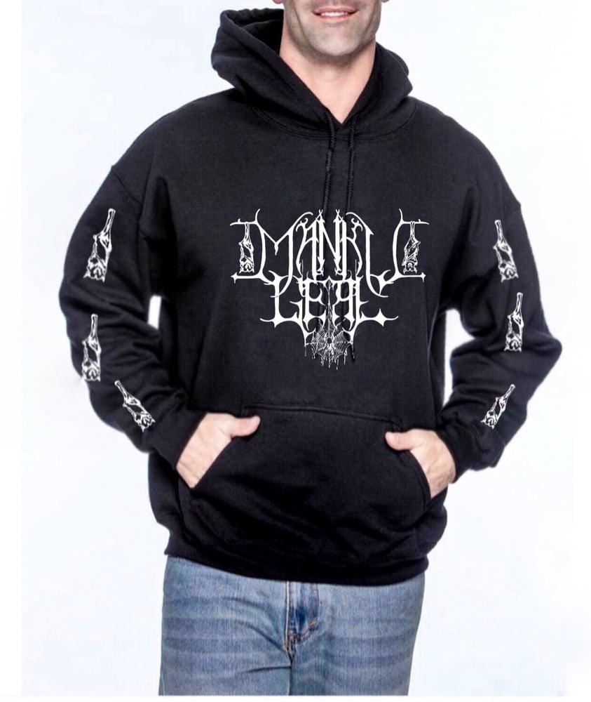 Image of Mankult Black Unisex Pullover Hoodie