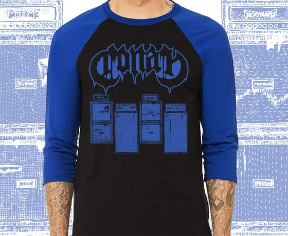 Image of Brand New!! Conan StackFlag Raglan Tee w/ Royal Blue Print