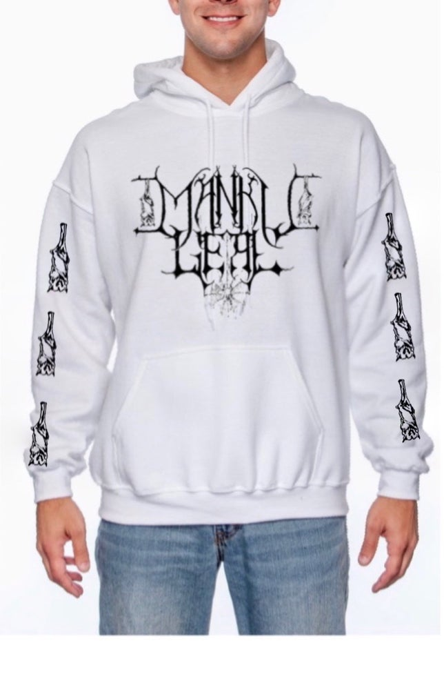 Image of Mankult White Unisex Pullover Hoodie