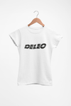 """""""Deleo"""" T-Shirt (White, Ladies Fit)"""