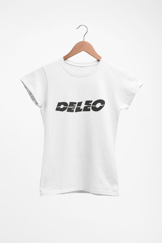 "Image of ""Deleo"" T-Shirt (White, Ladies Fit)"