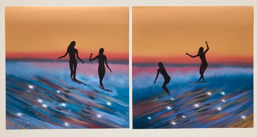 Image of Surfer Girls Prints