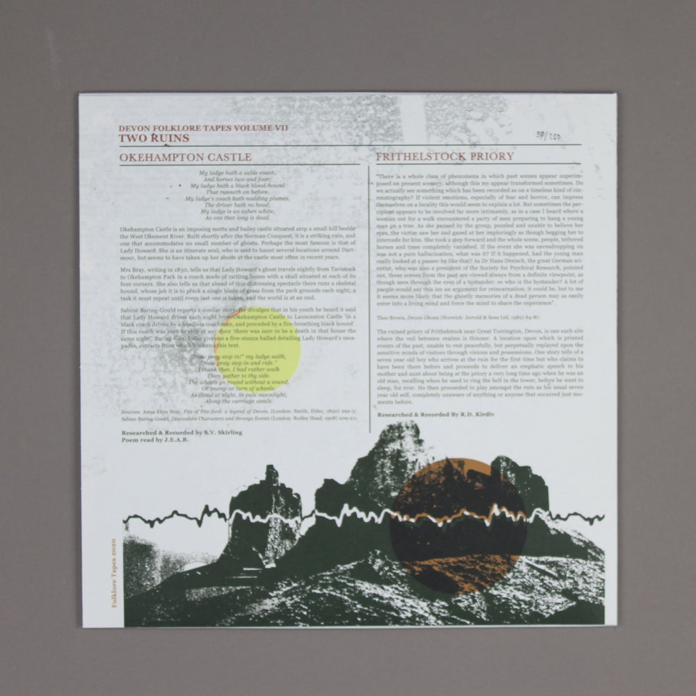 Image of Devon Folklore Tapes Volume VII - Two Ruins
