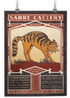 Sabre Cattery - A3 Art Print