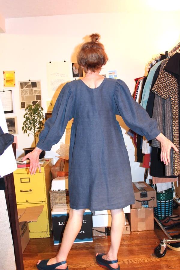 Image of Rosemary Dress - Navy Linen
