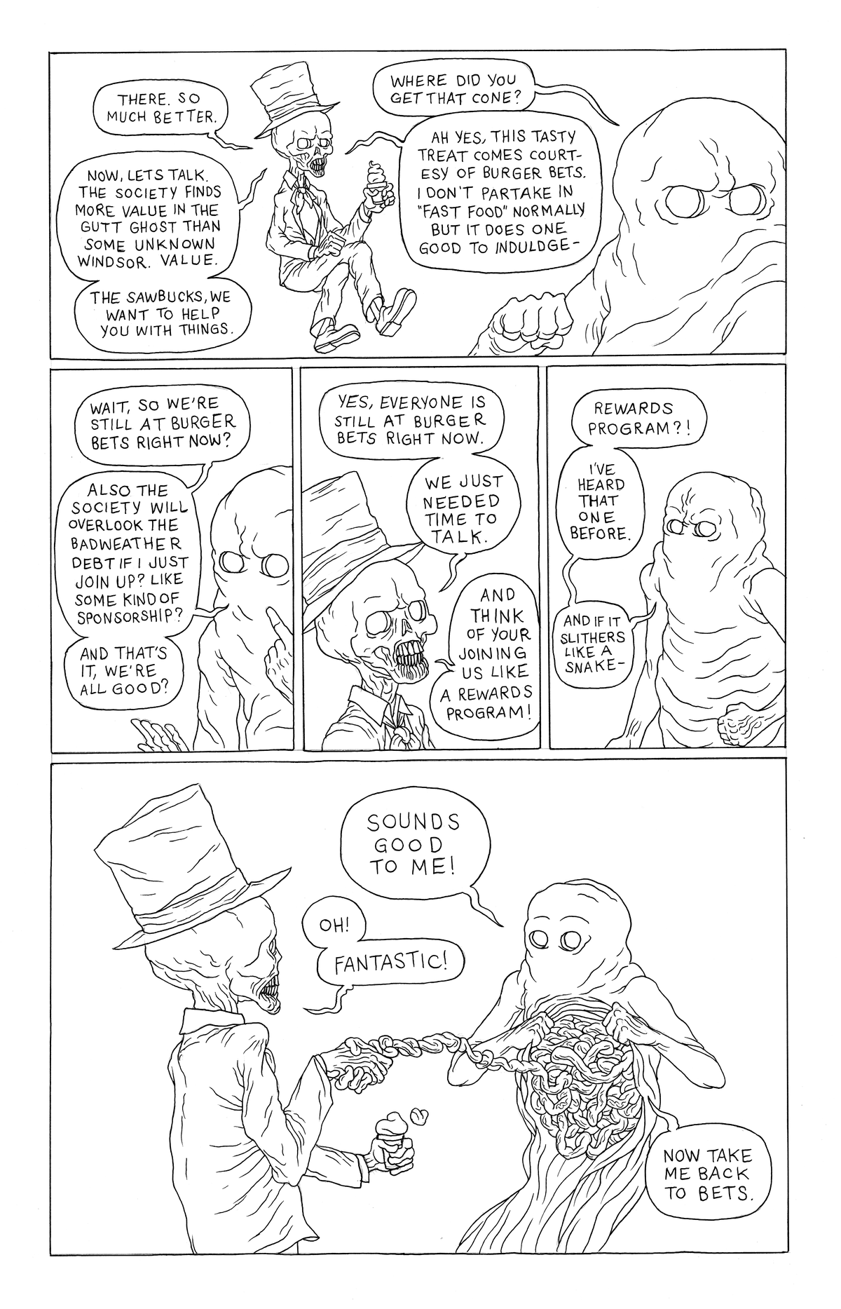 Image of Gutt Ghost Original Page (TWTSSS Pg. 15)