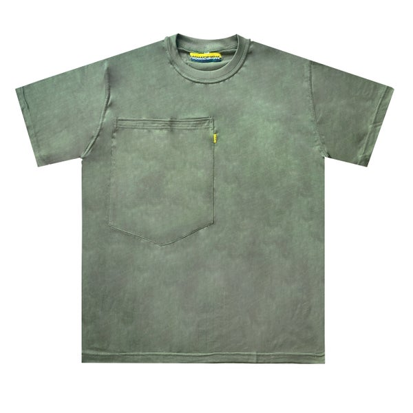 Image of Oversized Pocket Tee (Olive)