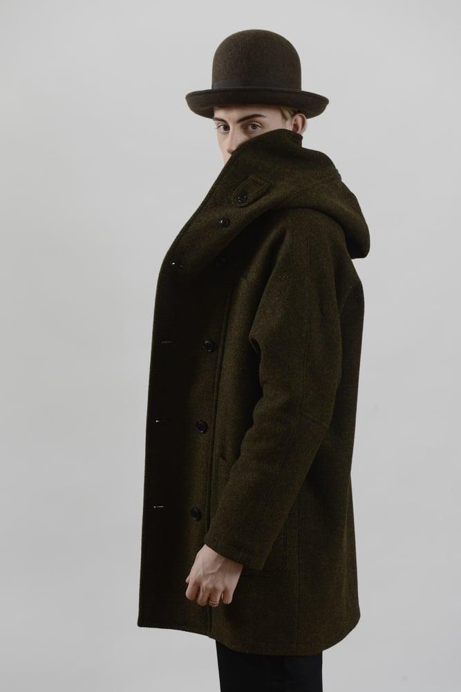Image of Fisherman Long Coat Heather wool