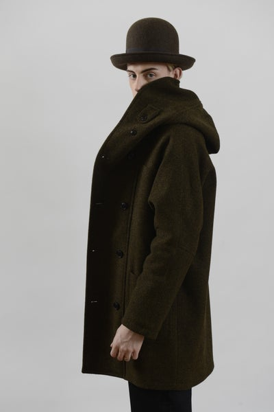 Image of Fisherman Long Coat Heather wool