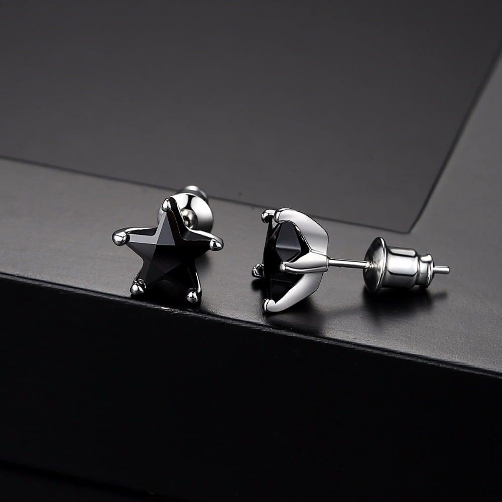 BlackStar Stud Earrings (Zircon Stone)