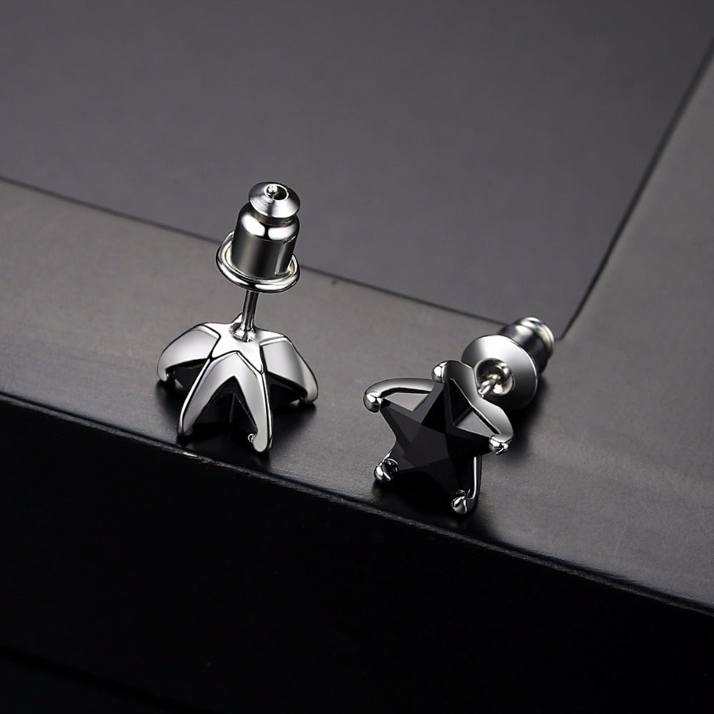 BlackStar Stud Earrings (Zircon Stone)