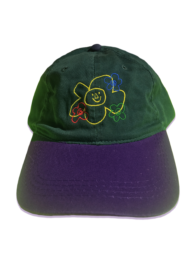 Image of Embroidered Logo Classic 6 Panel Hat (Green / Navy)